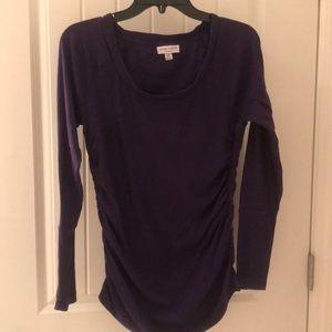 Liz Lange maternity sweater sz medium purple